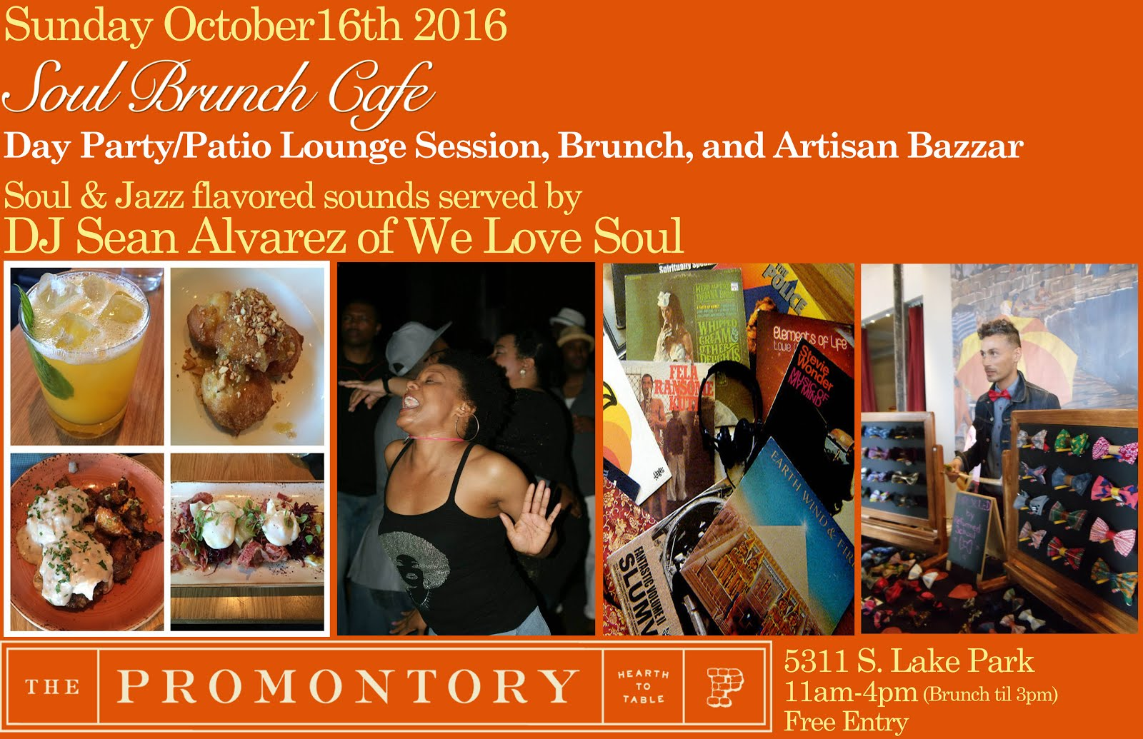 Sunday 10/16: Soul Brunch Cafe @ The Promontory