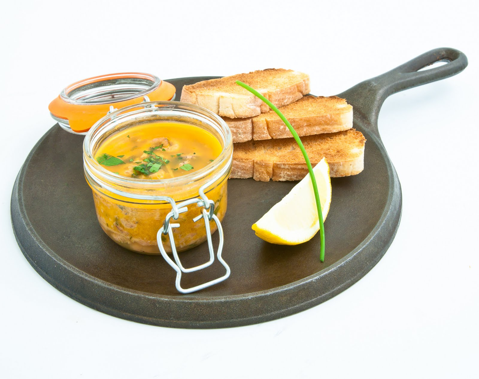 Potted shrimp with sour dough toast