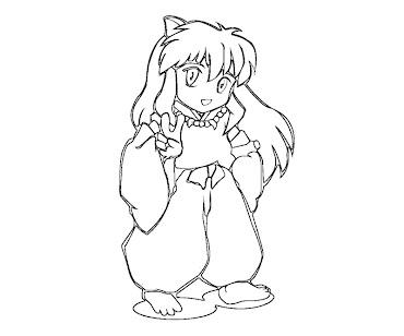 #4 Inuyasha Coloring Page