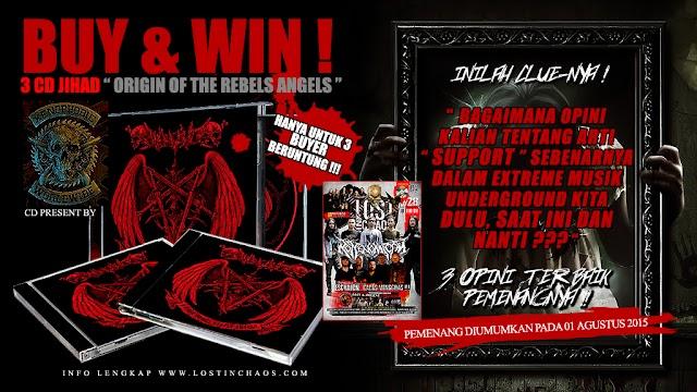 """NOW, BUY AND WIN 3 CD JIHAD """" Origin of the Rebels Angels """" on LOSTINCHAOS # 28"""