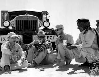 بدايه اكتشافات البترول في الجزيره العربيه 1955.jpg