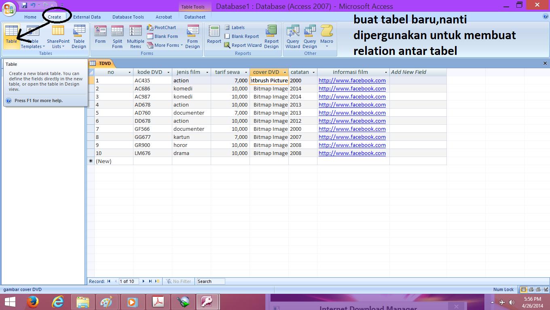 cara membuat tabel, query dan form pada MS access 2007 - NIJEKOblog