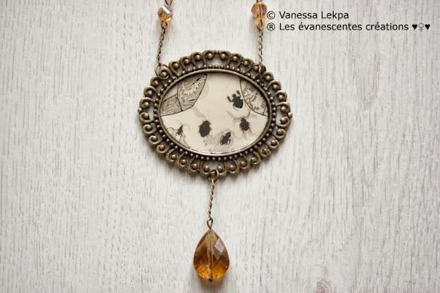 bijoux insectes halloween sorcière magie talisman nuit sombre romantique baroque gothique