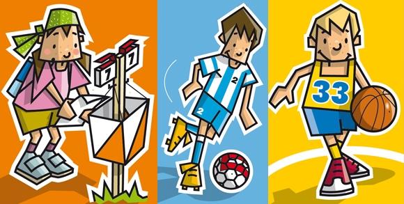 Dibujos de niños haciendo deporte - Imagui