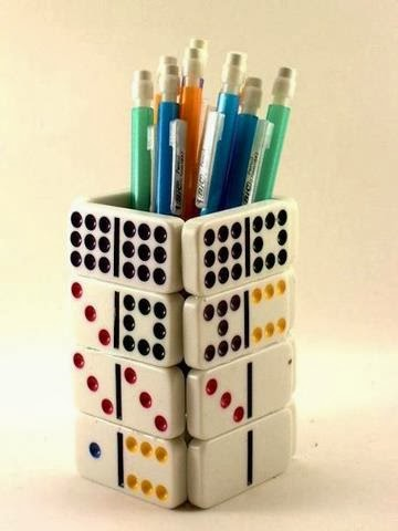 Pen Holder from Mahjong Tiles