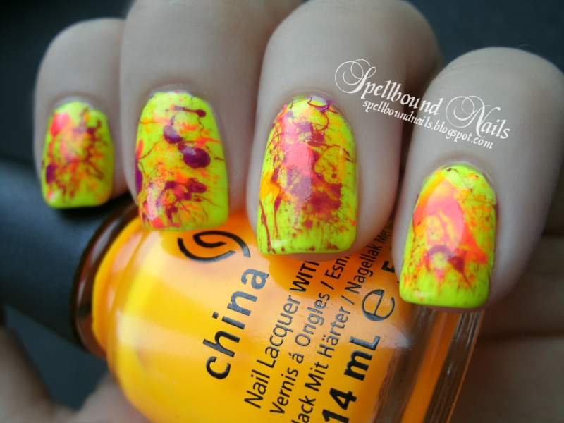 Neon colors nail designs