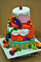 Fruity Topsy turvy cake class