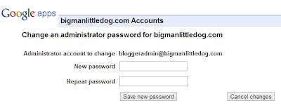 Google Apps Domain Registration - Reset Password Actual Screen
