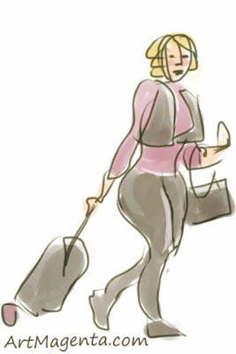Speed shopping is a gesture drawing by artist and illustrator Artmagenta drawn on an iphone