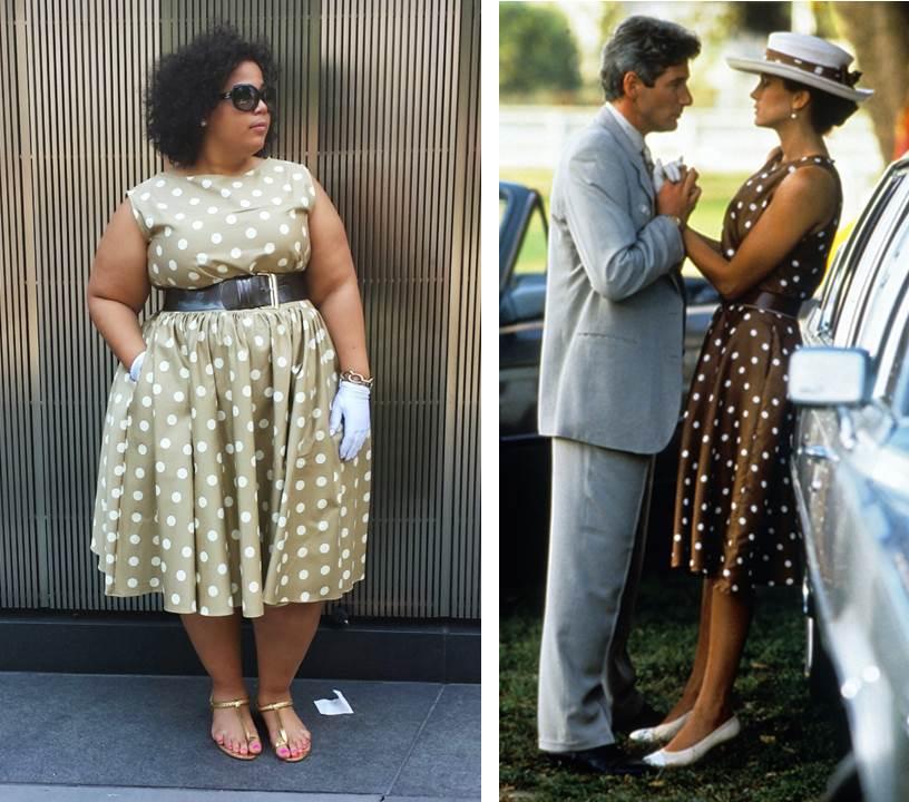Pretty Woman, Polka Dot Dress, Plus Size Fashion