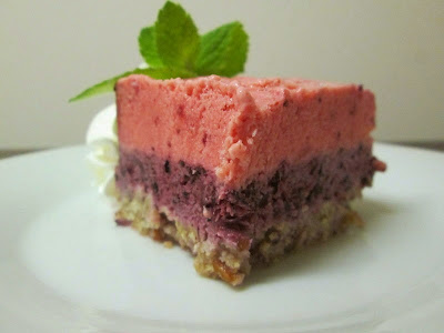 frozen berry cake