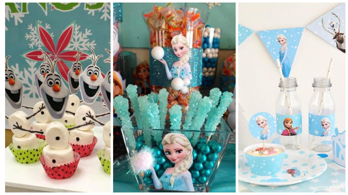 Imprimibles y manualidades para decorar un cumplea os de frozen cositasconmesh - Decoracion cumpleanos infantiles manualidades ...