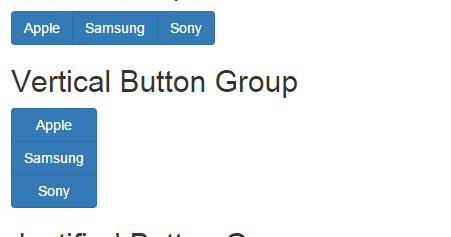 Infallible Techie: Bootstrap Button Groups