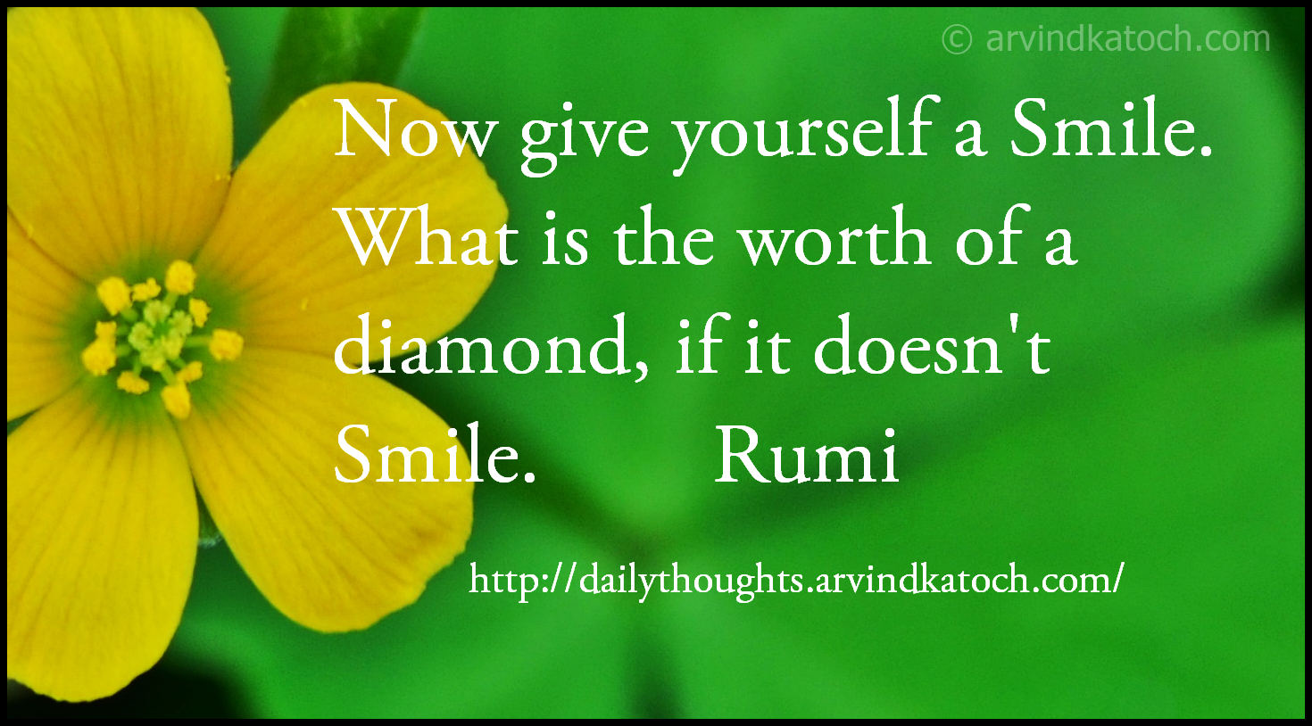 Smile, diamond, daily thought, quote,