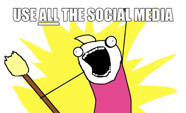 Use ALL The Social Media // The Nailasaurus