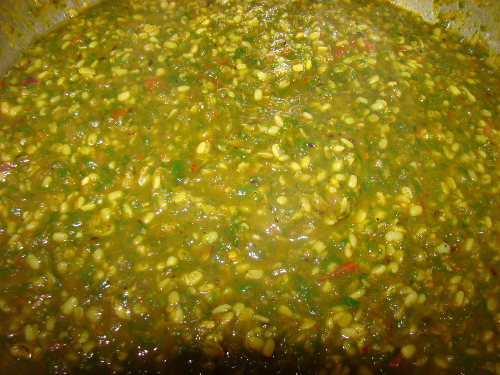 My Favorite Recipes Collection: Moong Dal Palak (Moong dal Spinach)