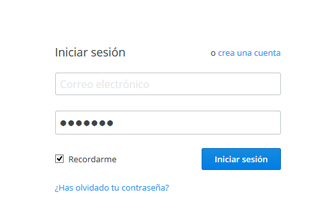 Como iniciar sesion en Dropbox