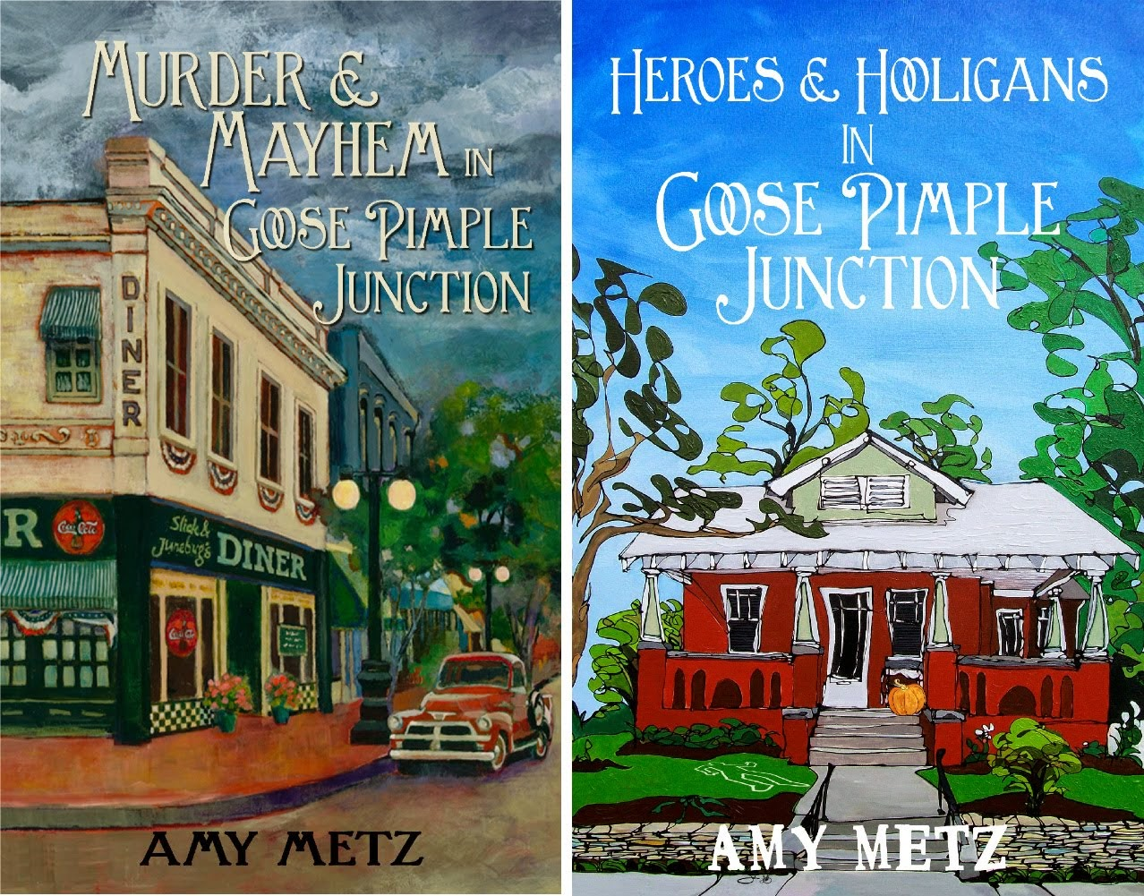 Goose Pimple Junction mystery series by Amy Metz