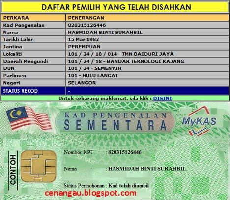 Segalanya Untuk Sabah Pemegang Kad Pengenalan Pemastautin Sementara Mykas Tidak Layak Mengundi Pru13