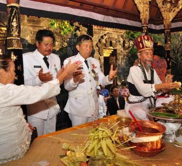 Pelantikan Gubernur Bali Diawali Upacara Mejaya-Jaya