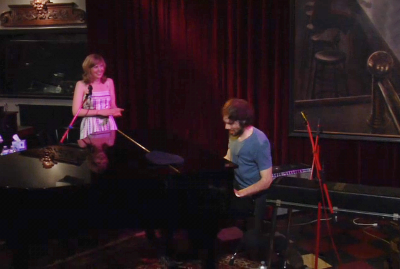 Natalie and Jack at grand piano live @ Hey it's Pomplamoose, 29 March 2011.