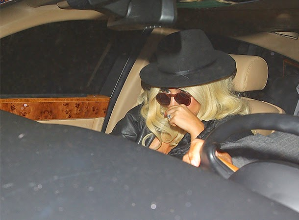 Lady Gaga Arrives at Craig's Restaurant in Hollywood