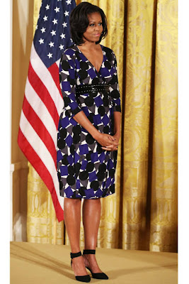 Celebrity Beauty & Style: Michelle Obama