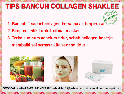 cara bancuh collagen