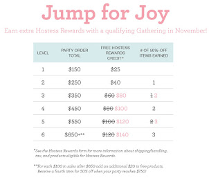 Host a 350+ party in November & get MORE REWARDS!