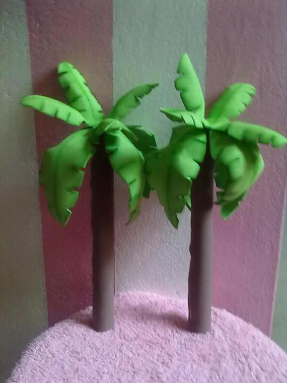Como hacer palmeras de papel imagui - Como hacer una palmera artificial ...