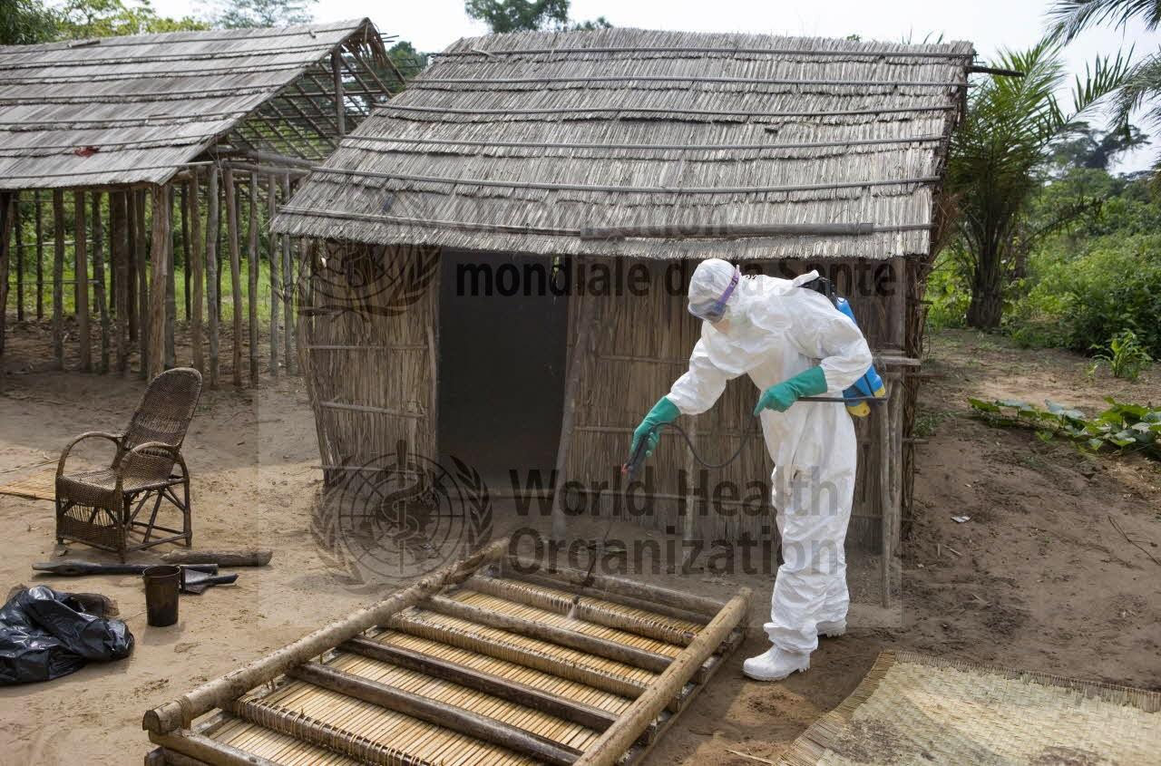 Desinfeção de habitação na RDCongo - Ébola vírus