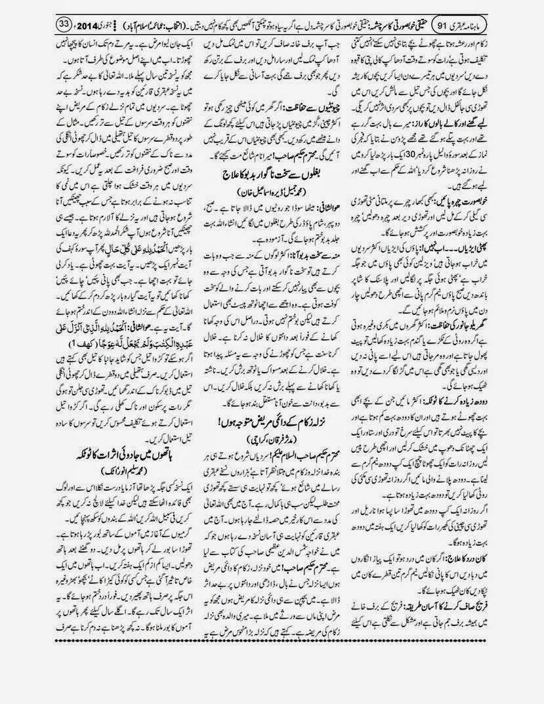 page 33 ubqari january 2014