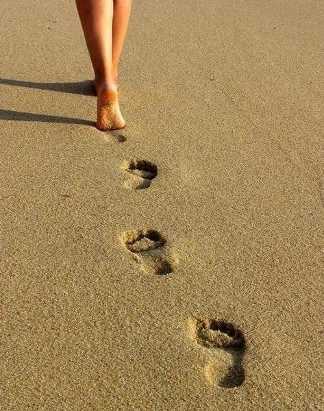Pegadas na Areia
