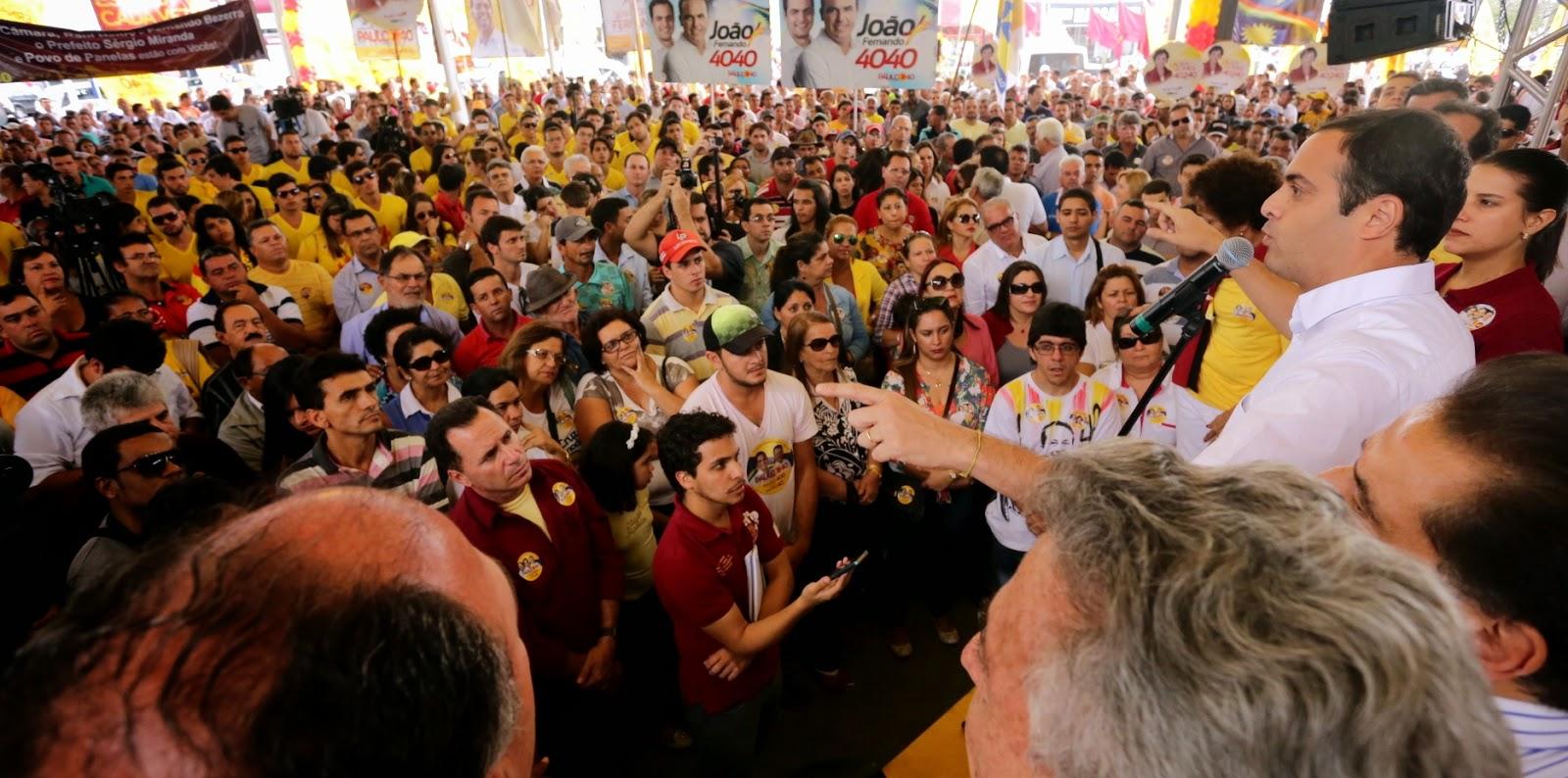 Grandes atos em Caruaru demonstram união em torno de Paulo Câmara