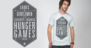 Duncan modeling a Darby and Dash shirt - Ladies and Gentleman, Let the Seventy-Fourth Hunger Games Begin