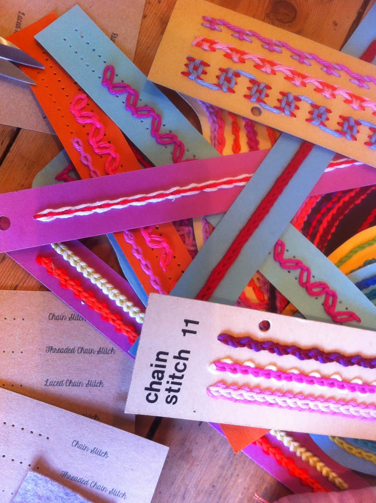 stitch card teaching aids by Joan Nicholson
