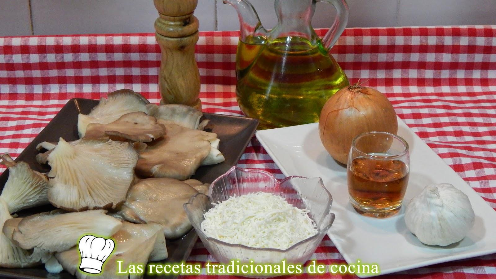 receta fácil de setas gratinadas con queso