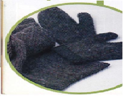 Utilisima tejidos de bufanda, gorro, guantes
