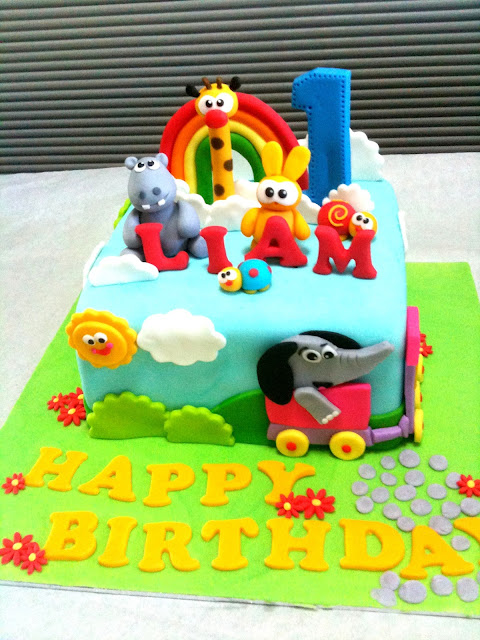 ... the 2-tier Baby TV cake wed done previously. Happy 1st Birthday Liam