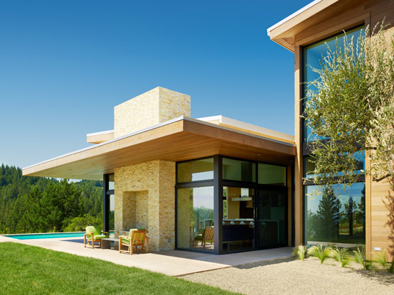 If It's Hip, It's Here: Modernist Healdsburg Home With Pool on ...
