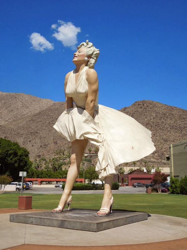 Giant Forever Marilyn statue Palm Springs