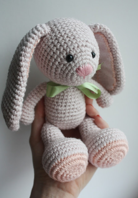 Pinky The Rabbit Amigurumi Crochet Pattern : Amigurumi creations by HappyAmigurumi: New design in ...