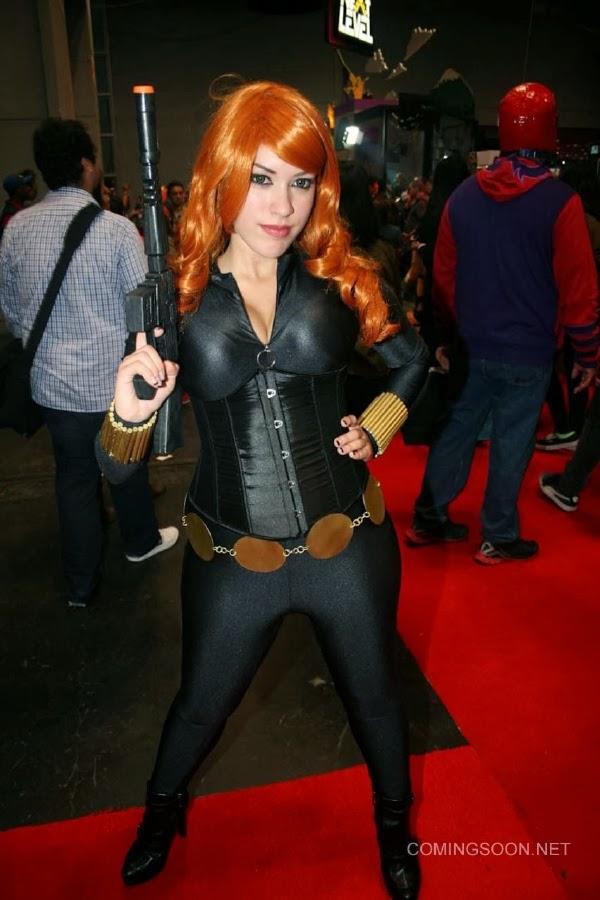 Viuda Negra Sexy Cosplay de la New York Comic Con 2013