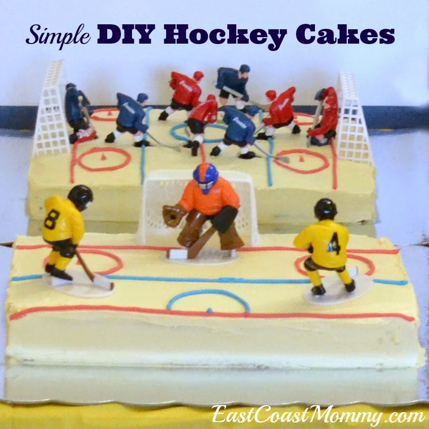 Ice Hockey Cake Decorations Uk : East Coast Mommy: Simple DIY Hockey Cakes