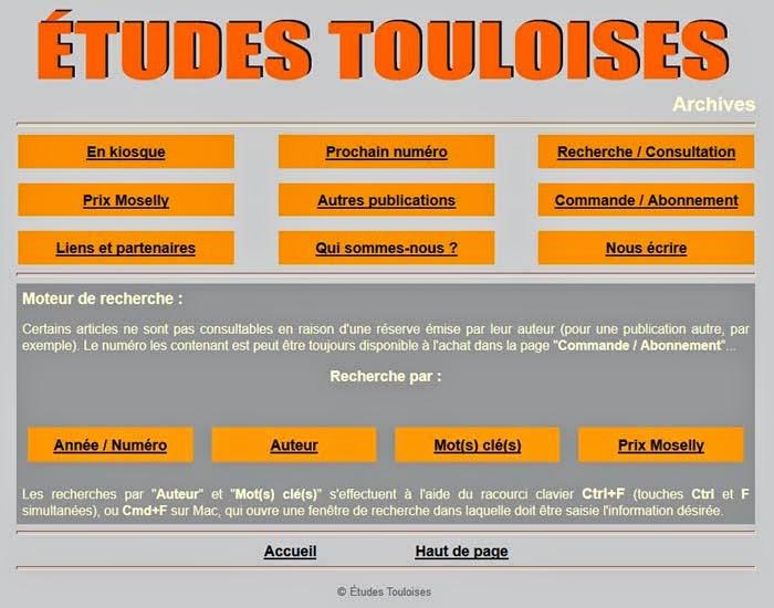 http://www.etudes-touloises.fr/recherches/recherches.html