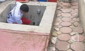 Thau dọn bể nước ngầm quận Cầu Giấy