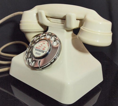 1930s kettle phone rotary vintage retro Just Peachy, Darling