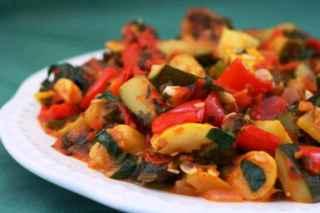 Ricetta polpette di manzo con verdure al forno, Ratatouille, Caponata