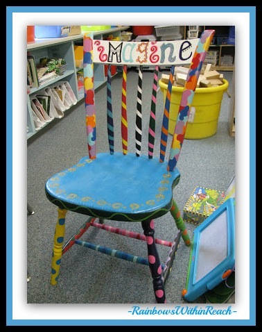 photo of: Imagine: Hand Painted Author's Chair at RainbowsWithinReach
