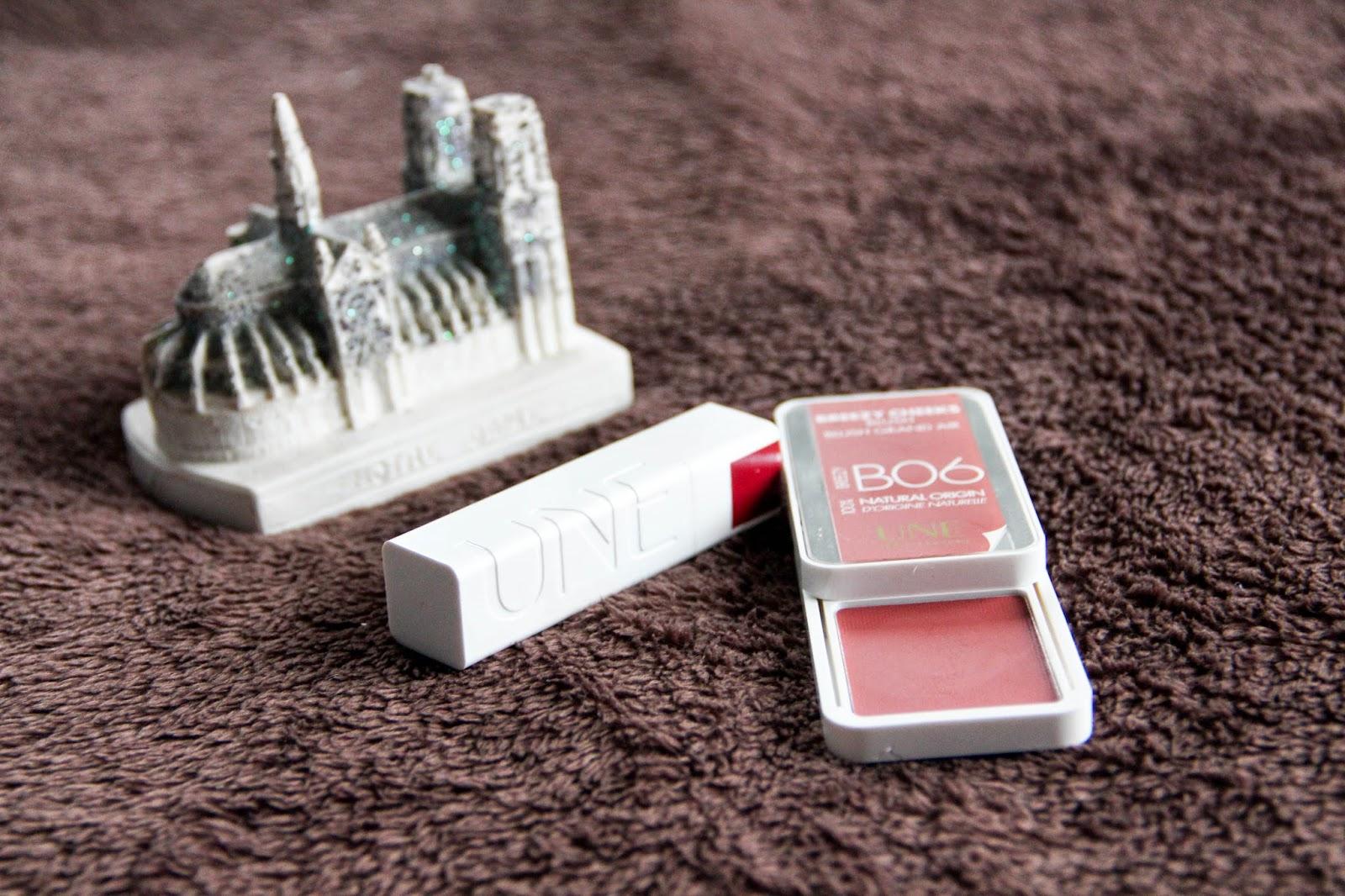Cosmetic blush brique rouge à lèvres